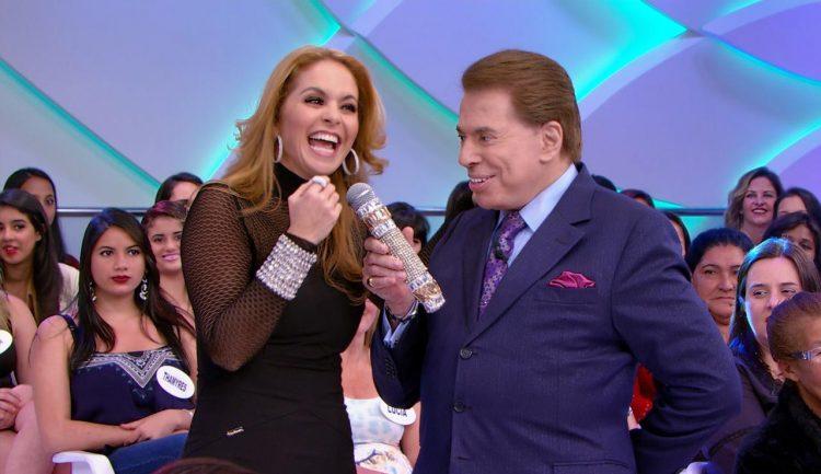 Lucero con Silvio Santos