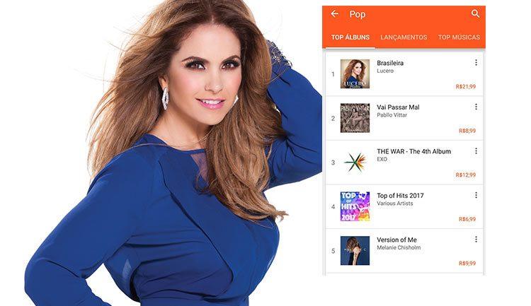 Lucero Brasileira Número Uno en Google Play
