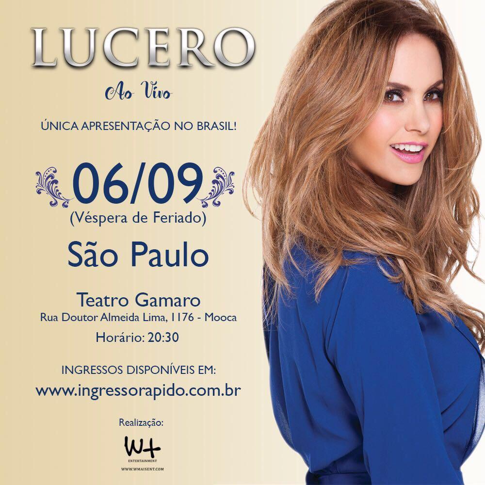 Lucero ao Vivo em Brasil