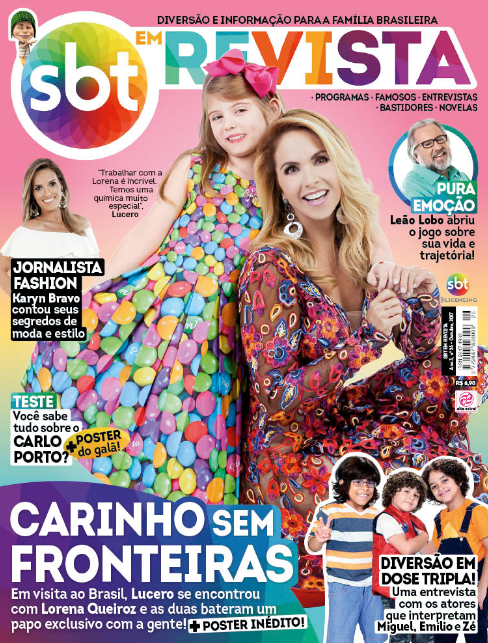 Lucero y Lorena Queiroz SBT em Revista