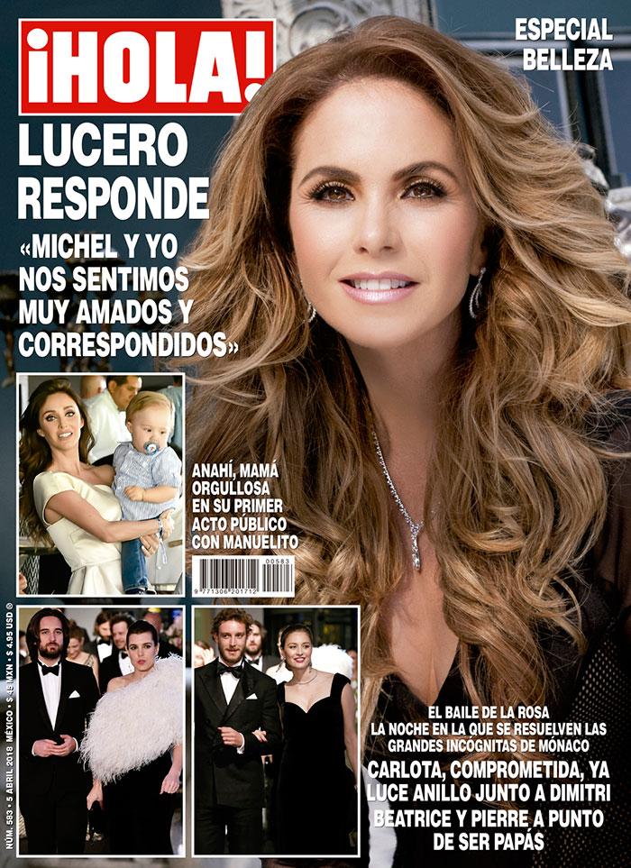 Lucero en la revista Hola México abril 2018