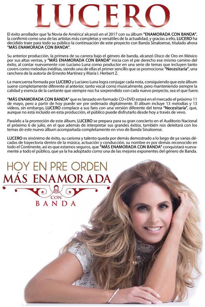 Lucero Más Enamorada Con Banda: Preorden