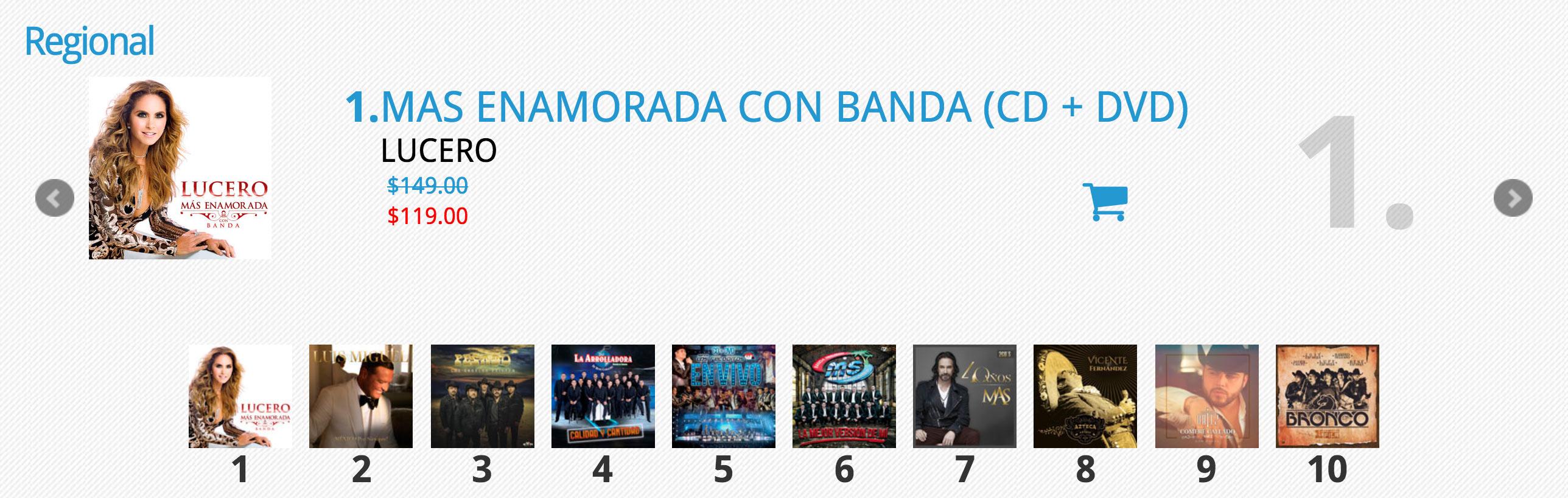 Lucero número uno en ventas en México