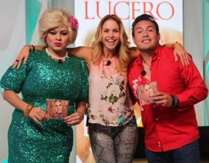 Lucero y Pepona en la Ke Buena promoviendo Enamorada con banda
