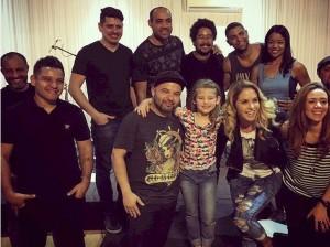 Lucero ensayando para su show en Brasil