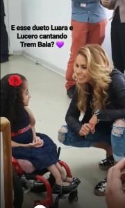 Lucero en AACD Teletón Brasil